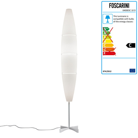 Foscarini - Havana Stehleuchte with dimmer, Chrome / white