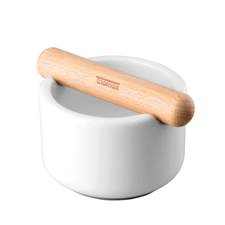 Thomas - Mortar grey, bowl with wooden pestle
