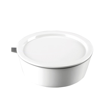 Thomas - Porcelain Food Container, 630 ml, grey silicone ring