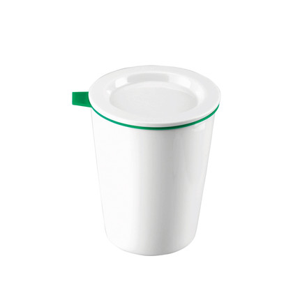 Thomas - Porcelain Food Container, 370 ml, green silicone ring