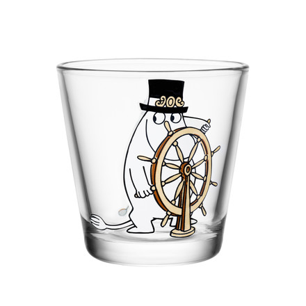 Iittala - Mumin glass 21 cl, Moominpappa at the helm