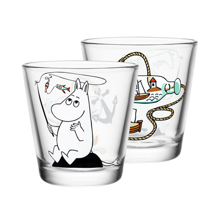 Iittala - Mumin glass 21 cl, Moomin troll fishing