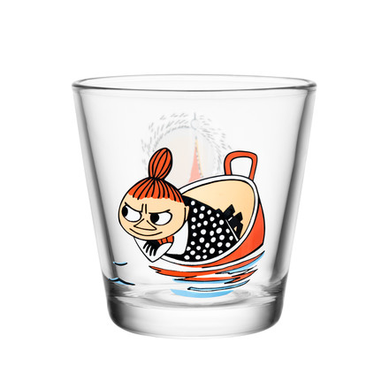 Iittala - Mumin glass 21 cl, Little My floating