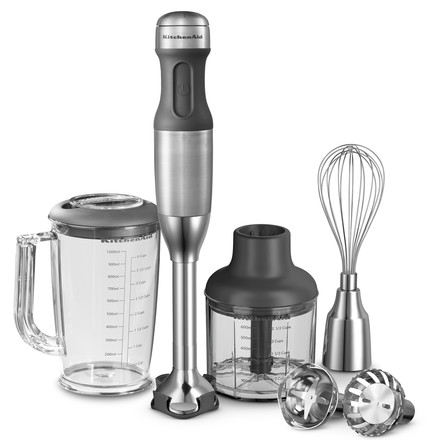 KitchenAid - Hand blender  with 5 speed levels, stainless steel