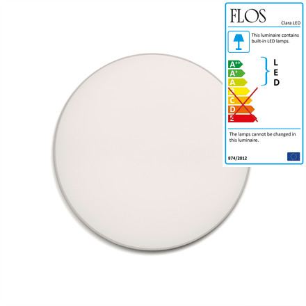 Flos - Clara Wall and Ceiling Lamp LED, white