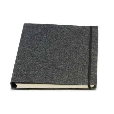 Atoma - Alain Berteau Notebook chequered A4, grey