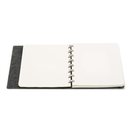 Atoma - Alain Berteau Notebook plain, grey