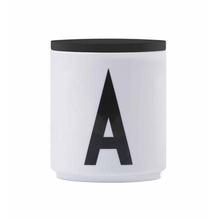 Design Letters - Cover for the AJ porcelain mugs, black