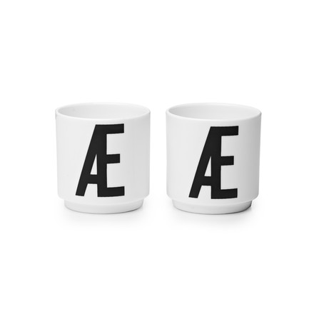 Design Letters - Porcelain Eggcups Æ (set of 2)