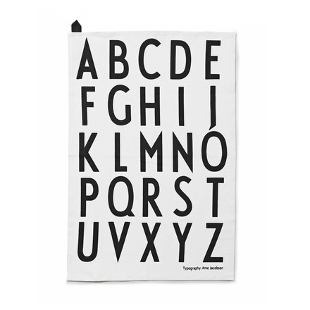Design Letters - ABC Tea Towel Set, white (set of 2)