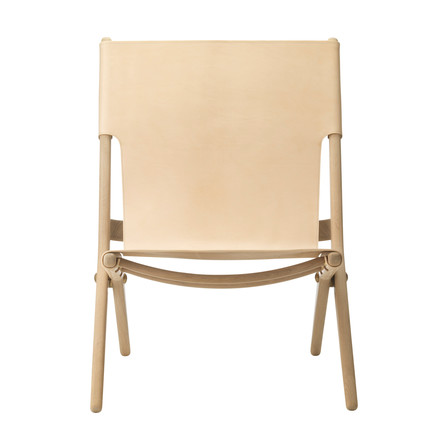 by Lassen - Saxe Folding Chair out of oak wood and natural leather
