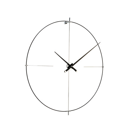 Bilbao wall clock by nomon in black
