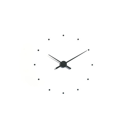 OJ mini wall clock by nomon in black