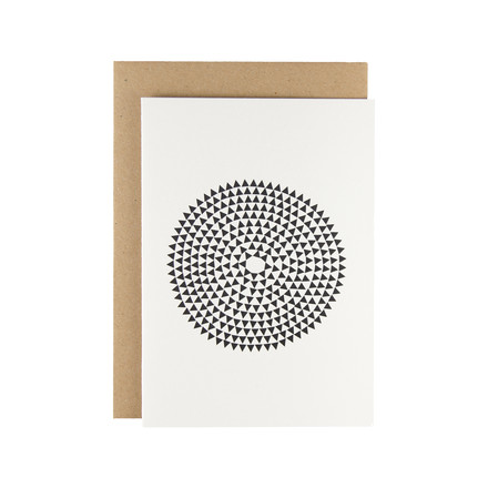 Karte - Murmurs greeting card in black