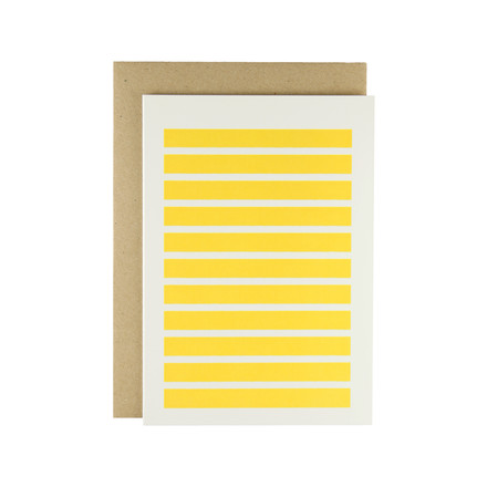 Karte - Stripetown Pop in yellow