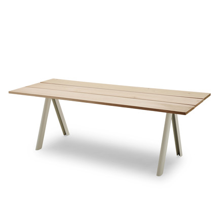 Overlap Table by Skagerak in silver white