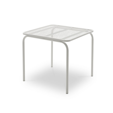 Mira dining table 80 x 80 cm by Skagerak in silver white