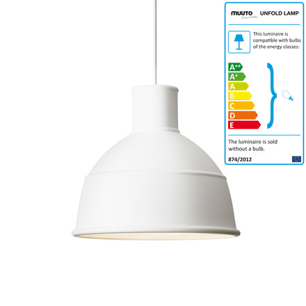 Muuto - Unfold pendant lamp, white