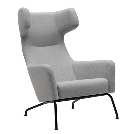 Softline - Havana Armchair, frame black / felt light grey (620)