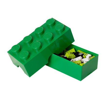 Lego - Lunch Box 8, green - opened