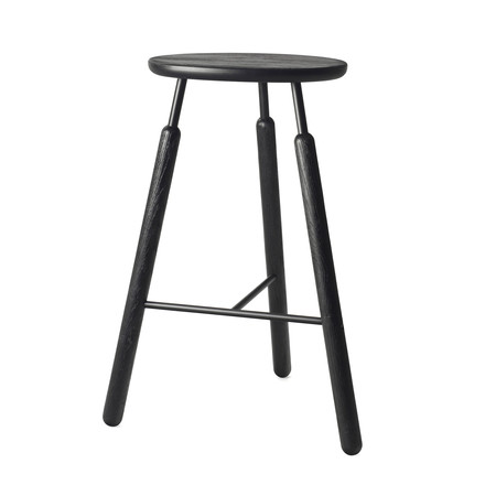 &Tradition - Raft Stool NA4, black stained oak