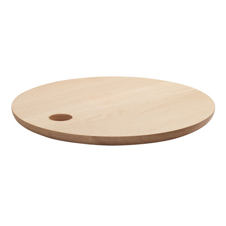 e15 - AC07 Cut Chopping Board Ø 45 cm in natural oak