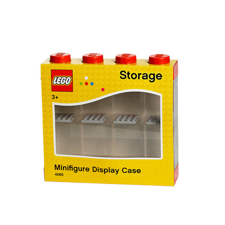 Lego - Storage Box & Minifigure Display Case 8 red