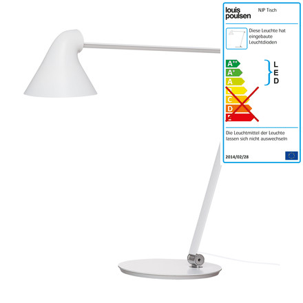 Louis Poulsen - NJP table lamp with base in white