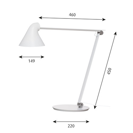 Info view of the NJP table lamp