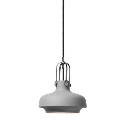 Copenhagen SC6 Pendant Lamp by &Tradition in matte grey
