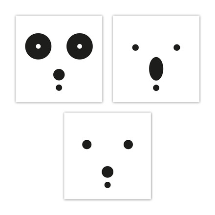 snug.bears art print set of 3 by Snug.studio