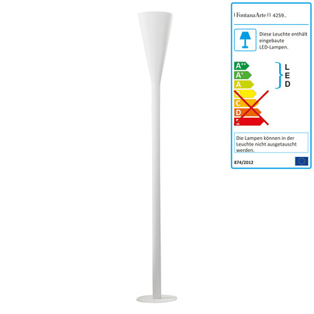 FontanaArte - Riluminator LED floor lamp in white