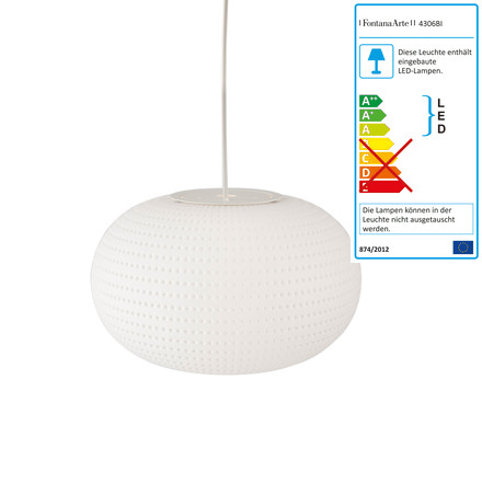 Bianca pendant lamp by FontanaArte in white