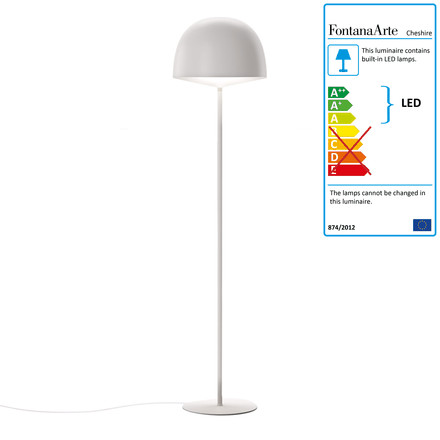 Cheshire floor lamp by FontanaArte in white
