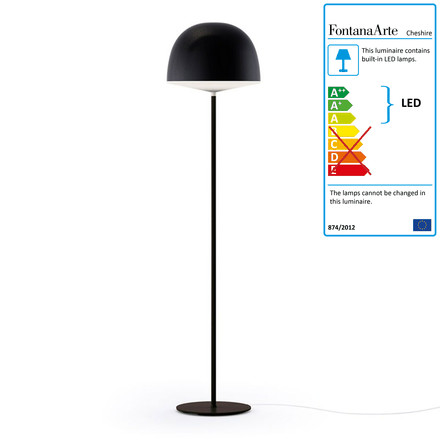 Cheshire floor lamp by FontanaArte in black