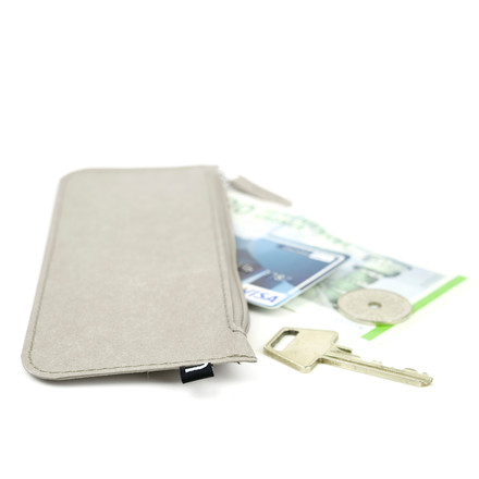 Wallet paper wallet and pencil case by Novoform in grey