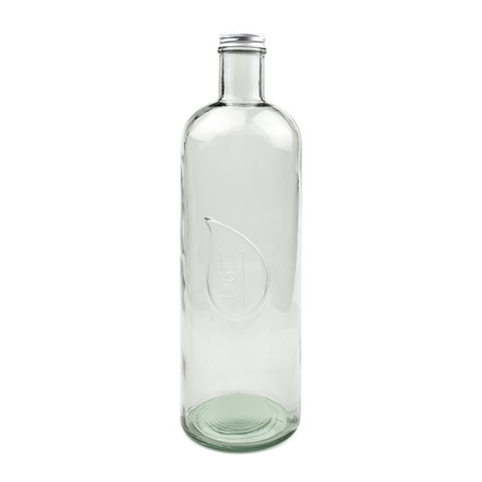 Drop water and wine bottle by Novoform in clear glass