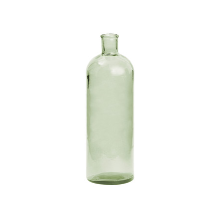 Retro glass vase, tall by Novoform in green