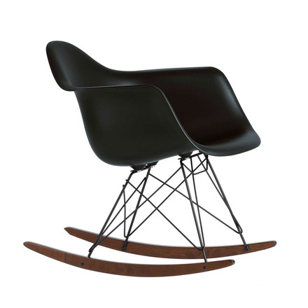The Eames Plastic Armchair RAR by Vitra in black - single image