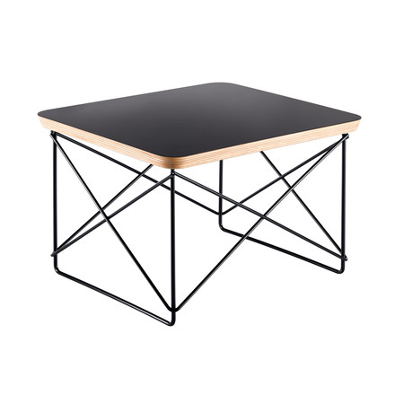 Eames Occasional Table LTR by Vitra in black and powder coated in basic dark