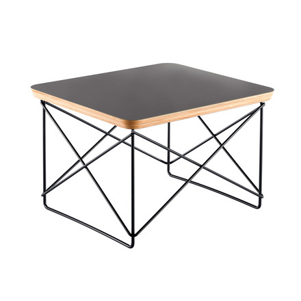 Eames Occasional Table LTR by Vitra in dark mauve and powder coated in basic dark