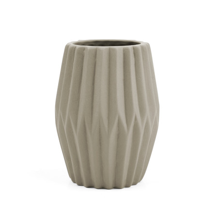 Riffle 3 Ceramic Votive / Vase by Novoform in grey