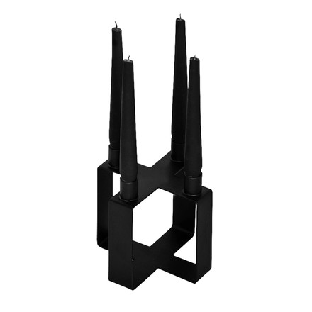 Sub 4 candleholder cross by Novoform in black
