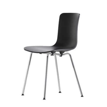 Vitra - Hal Tube Chair, black / chrome-plated, not stackable / felt pads (basic dark)