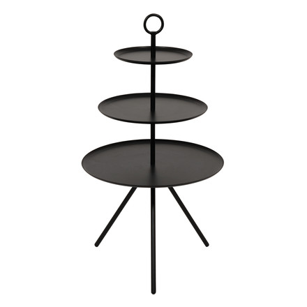 Steward side table by Norrmade with three levels in black