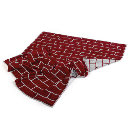 Pulpo - brick blanket, ruby red / light grey