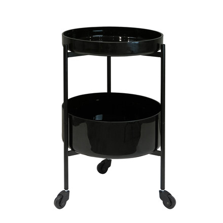 Pulpo - Karussel Two serving trolley in black