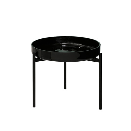 Pulpo - Karusell One side table small H 28, black / frame black
