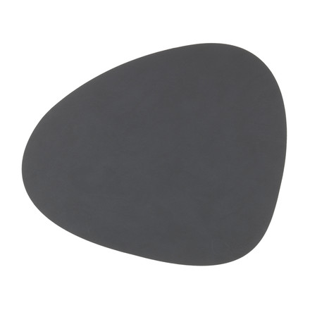 Tablemat curve L by LindDNA in Nupo anthracite