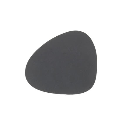 LindDNA - glass Mat Curve 11 x 13 cm, Nupo  anthracite 1.2 mm